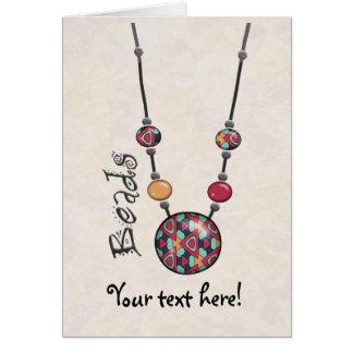 Riesige Perlen-Halskette Mehrfarben    20 Karte