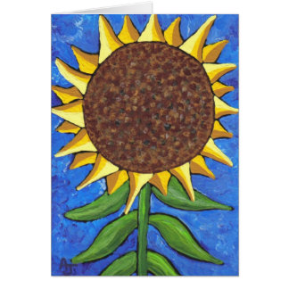 Riesige Sonnenblume - Grußkarte