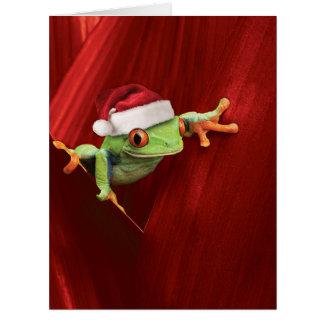 Riesige Weihnachten-Frosch-Weihnachtskarte Karte
