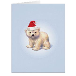 Riesige Weihnachtsbaby-Eisbär-Weihnachtskarte Karte