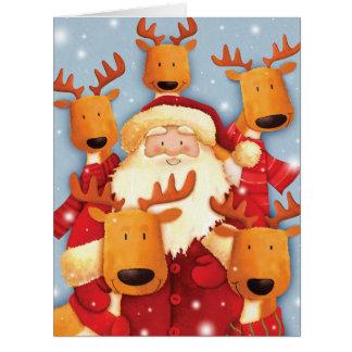 Riesige Weihnachtskarte Sankt Selfies Karte