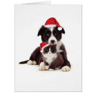 Riesige Weihnachtskopien-Katzen-Weihnachtskarte Karte