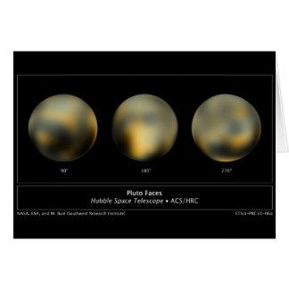 Riesiger Ball Pluto-Planeten im Himmel Karte