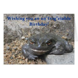 Riesiger lächelnder Frosch-Geburtstags-Gruß Karte