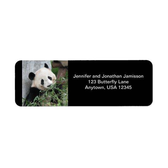 Riesiger Panda, schwarzer Rücksendeetiketten