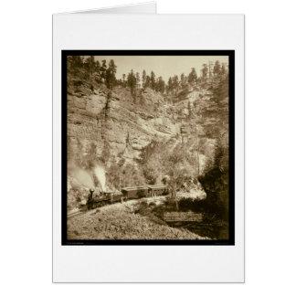 Riesiger Täuschungs-Zug Black Hills Sd 1890 Karte