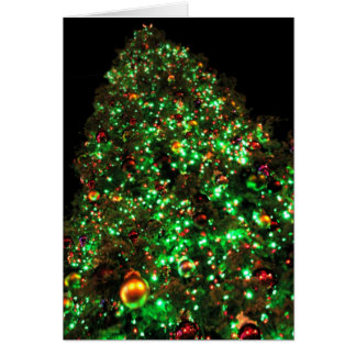 Riesiger Weihnachtsbaum III Karte