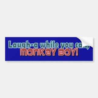 Riez tandis que vous pouvez Monkey la conception d Autocollant De Voiture