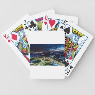 Riga-NachtSkyline Bicycle Spielkarten