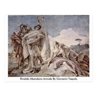 Rinaldo verlässt Armida durch Giovanni Tiepolo Postkarte