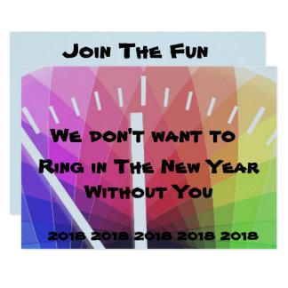 Ring in der neues Jahr-Einladung Karte