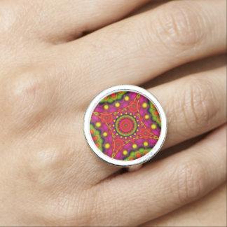 Ring-Mandala-psychedelische Visionen Foto Ringe