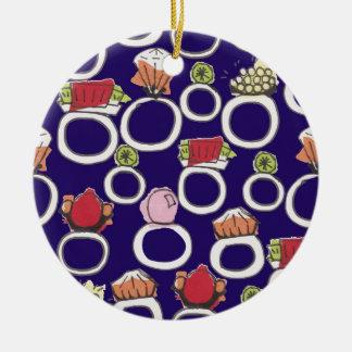 Ringe Keramik Ornament