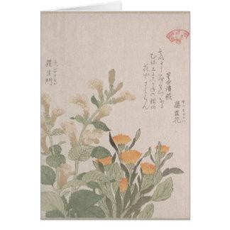 Ringelblumen-Blume im Sommer Grußkarte