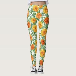 Ringelblumen-Blumen-Muster Leggings