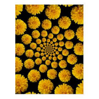 Ringelblumen-Blumen Postkarte
