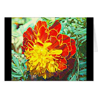 Ringelblumen-Blumenemblem Grußkarte