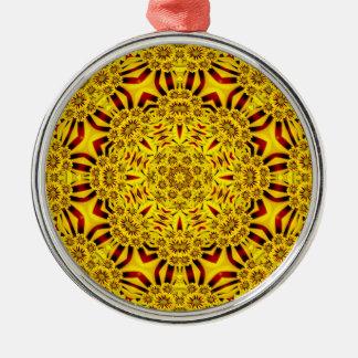 Ringelblumen-bunte Vintage Verzierungen Silbernes Ornament
