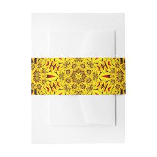 Ringelblumen-Einladungs-Bauch-Band Einladungsbanderole
