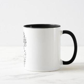 Ringer-Tasse schwarz/weiß mit Fee Tasse
