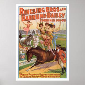 Ringling Bros. Les années 10 de publicité d'Equest Poster