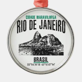 Rio de Janeiro Silbernes Ornament