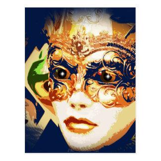 Rio-Karnevals-Karneval-Maske Postkarte