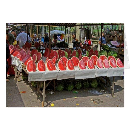 Rio-Wassermelone-Stand Karte