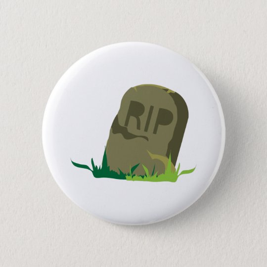 RIP Grabstein Runder Button 5,1 Cm
