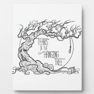 Risse des hängenden Baums Fotoplatte