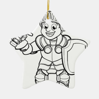 Ritter-Cartoon-Charakter Keramik Ornament