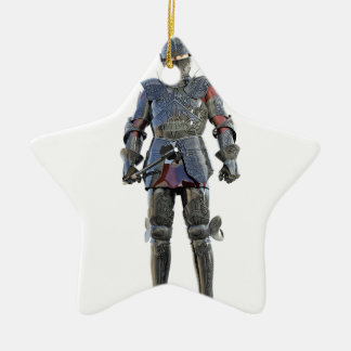 Ritter, der stehend und vorwärts geschaut worden keramik ornament