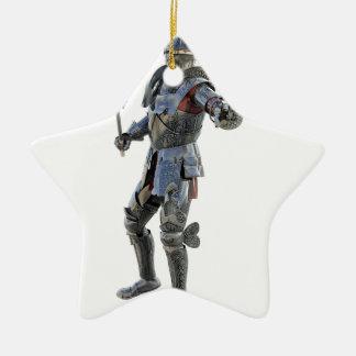 Ritter fechten zu seinem Gegner an Keramik Stern-Ornament