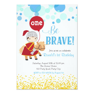 Ritter mit Ballon-Geburtstags-Einladung Karte
