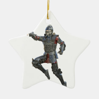 Ritter mit Muskatblüte springend rechts Keramik Ornament