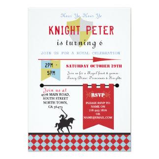 Ritter-Prinzessin Medieval Birthday Party Invite Karte