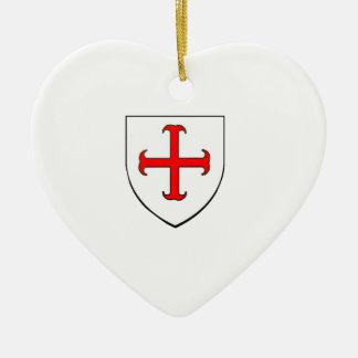 Ritter Templar Kreuzzug-Schild Keramik Ornament