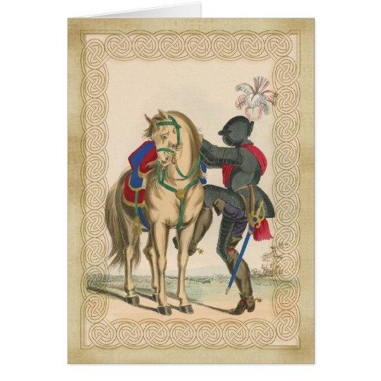 Ritter und Rüstung mit Pferdeanmerkungs-Karte Karte