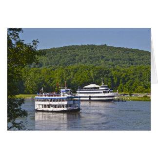 Riverboat Notecard Grußkarte