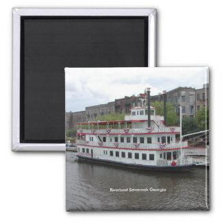 Riverboat-Savanne Georgia Quadratischer Magnet
