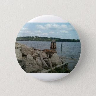 Riverwalk Dubuque Iowa Fluss Mississipi Runder Button 5,1 Cm