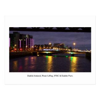 Rivière Liffey Irlande, IFSC et port de Dublin Carte Postale