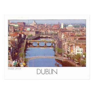 Rivière Liffey (St.K.) de l'Irlande Dublin Carte Postale