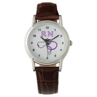 RN pflegt Stethoskop Armbanduhr