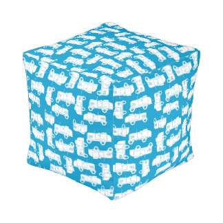 Roadsters blau kubus sitzpuff