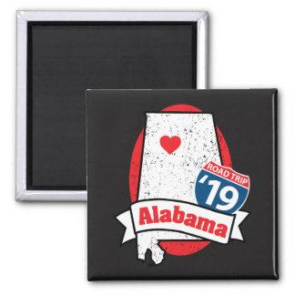 Roadtrip '19 Alabama - quadratischer Magnet