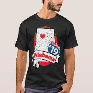 Roadtrip Alabama '19 T - Shirt (Schwarzes)