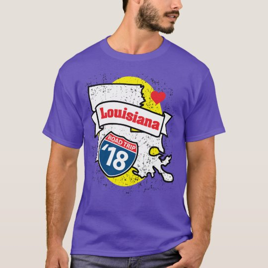Roadtrip Louisiana '18 T - Shirt (lila)