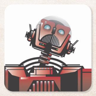Robbie der Roboter-Untersetzer Kartonuntersetzer Quadrat