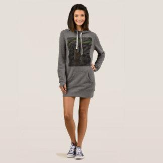 Robe/dessus du sweat - shirt à capuche des femmes